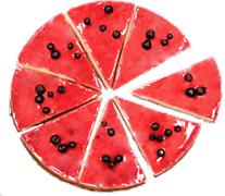 木苺のレアチーズケーキ